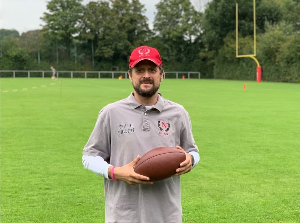 Head Coach der Juniors Flag von den Neuss Gladiators: Mirza Kehonjic-Thiede (Foto: Neuss Gladiators)